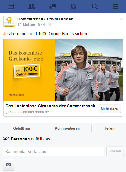 UPON - Fbler - Image Volksbank Facebook Ad