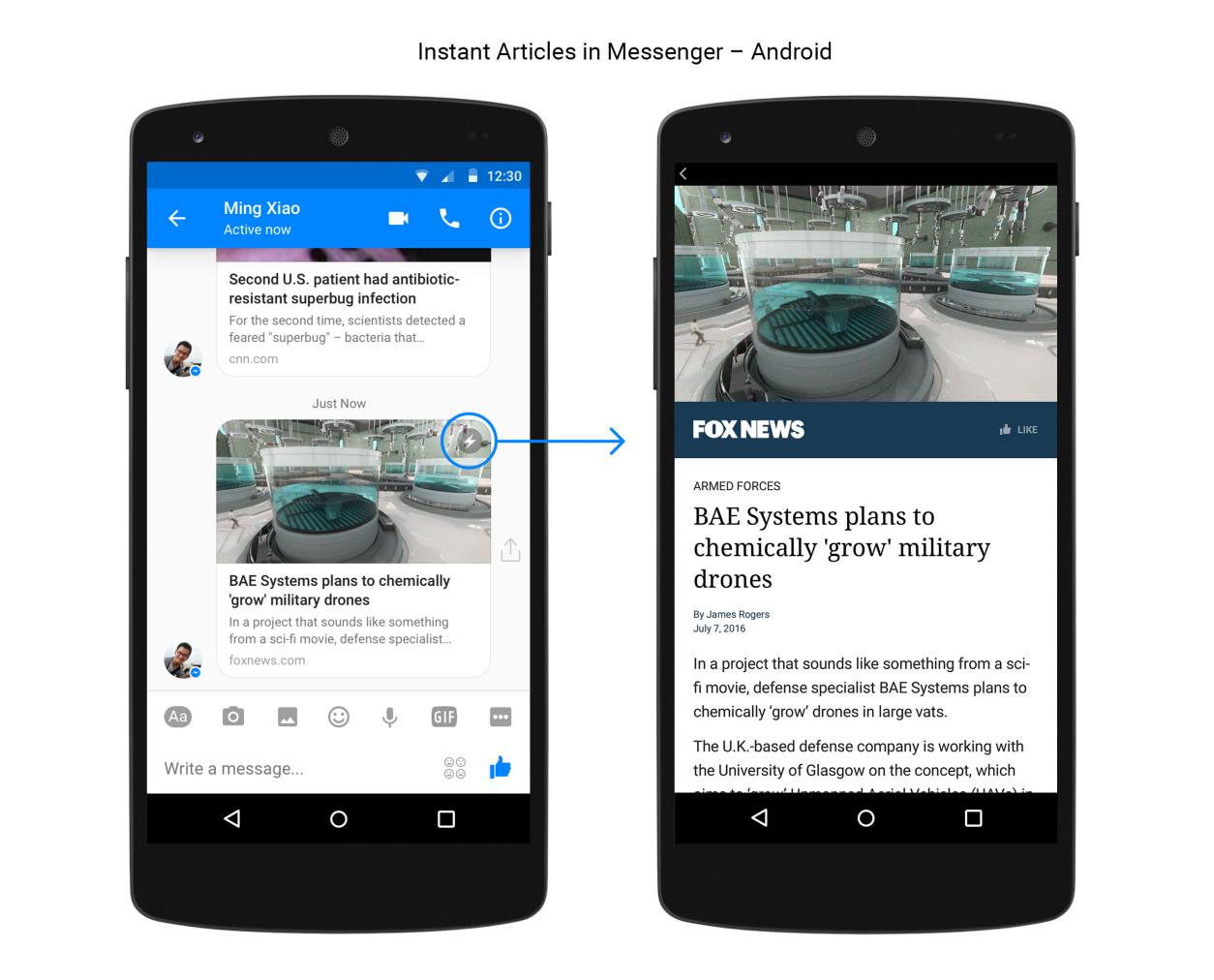 Instant Articles im Messenger