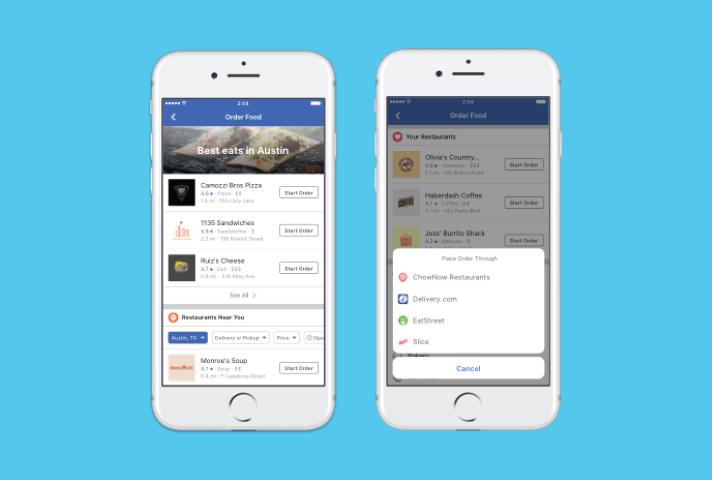Facebook Lieferservice