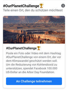 Facebook Challenges #OurPlanetChallenge