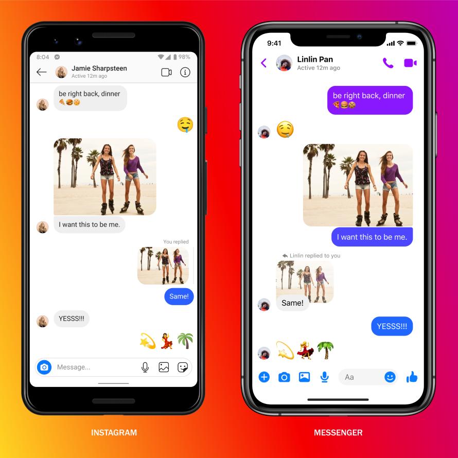 Neue Instagram Messenger Features - Controls