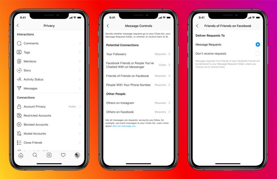Neue Instagram Messenger Features - Privatsphäre und Sicherheit