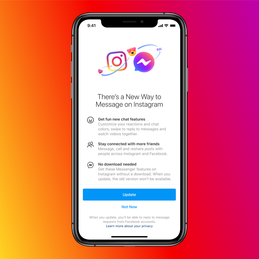 Neue Instagram Messenger Features - Update